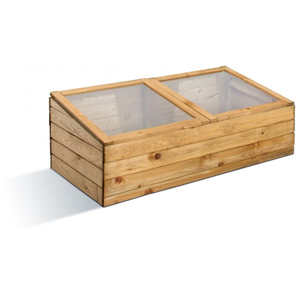 serre de jardin en bois chassis double 107 litres