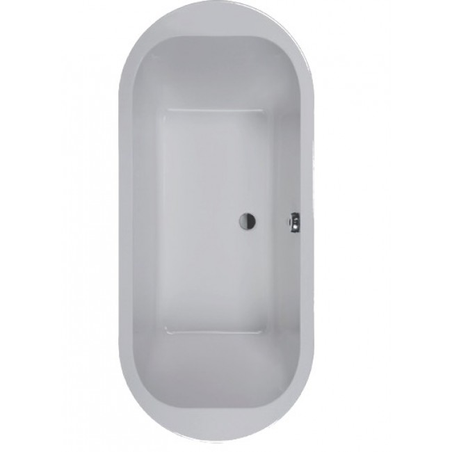 baignoire frisbee ovale en ilot 180 x 80 cm
