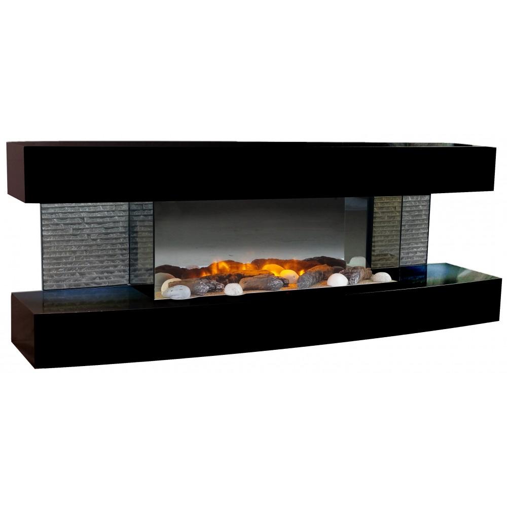 cheminee electrique design lounge noire 2000w