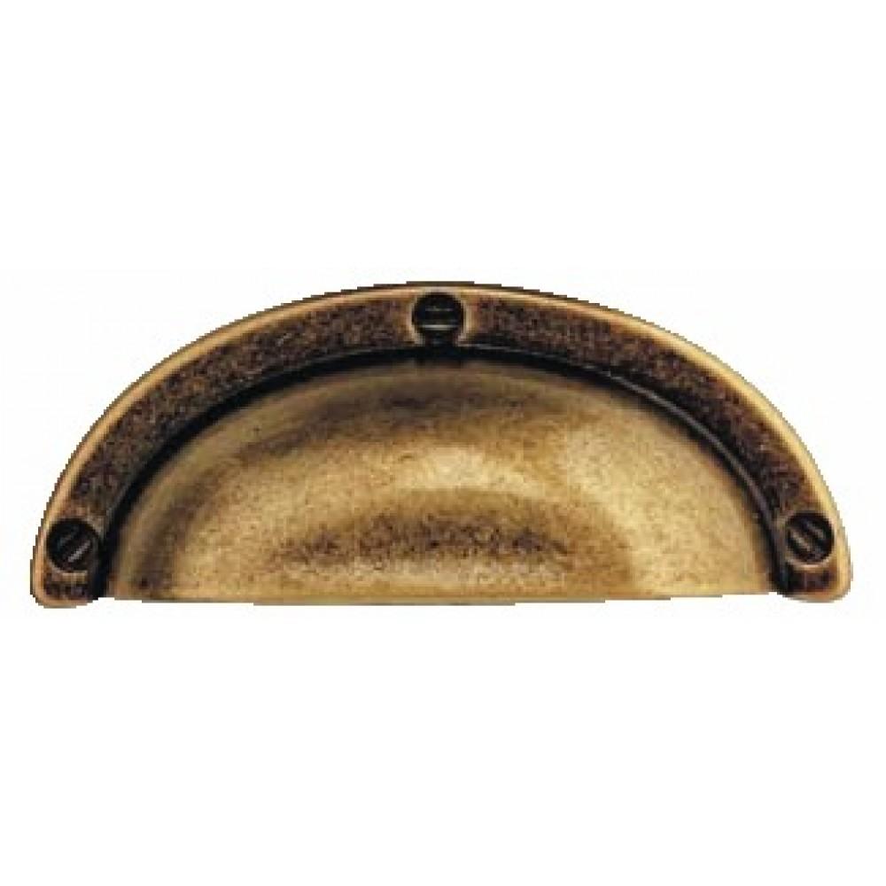poignee coquille zamak couleur bronze