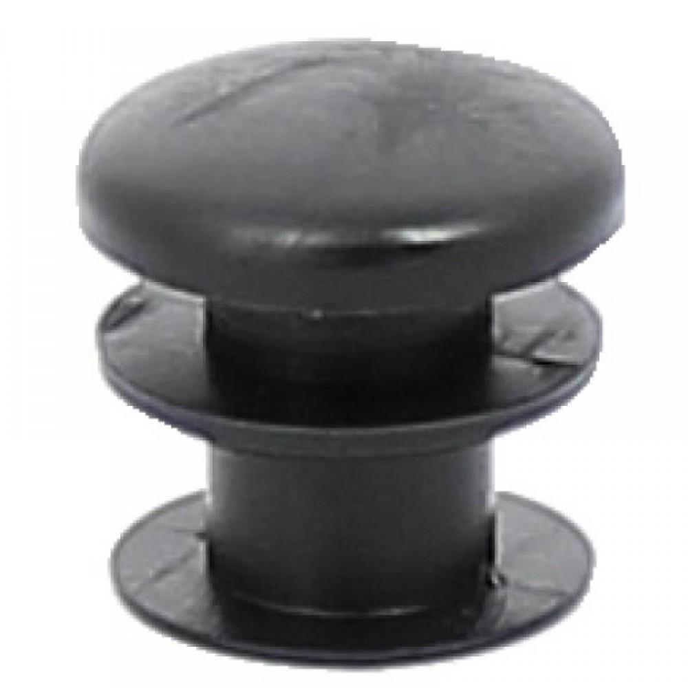embout en polyethylene noir pour tube rond