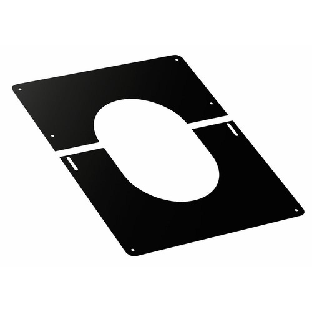 plaque de finition noire pour plafond pour conduit duoten ten sur bricozor