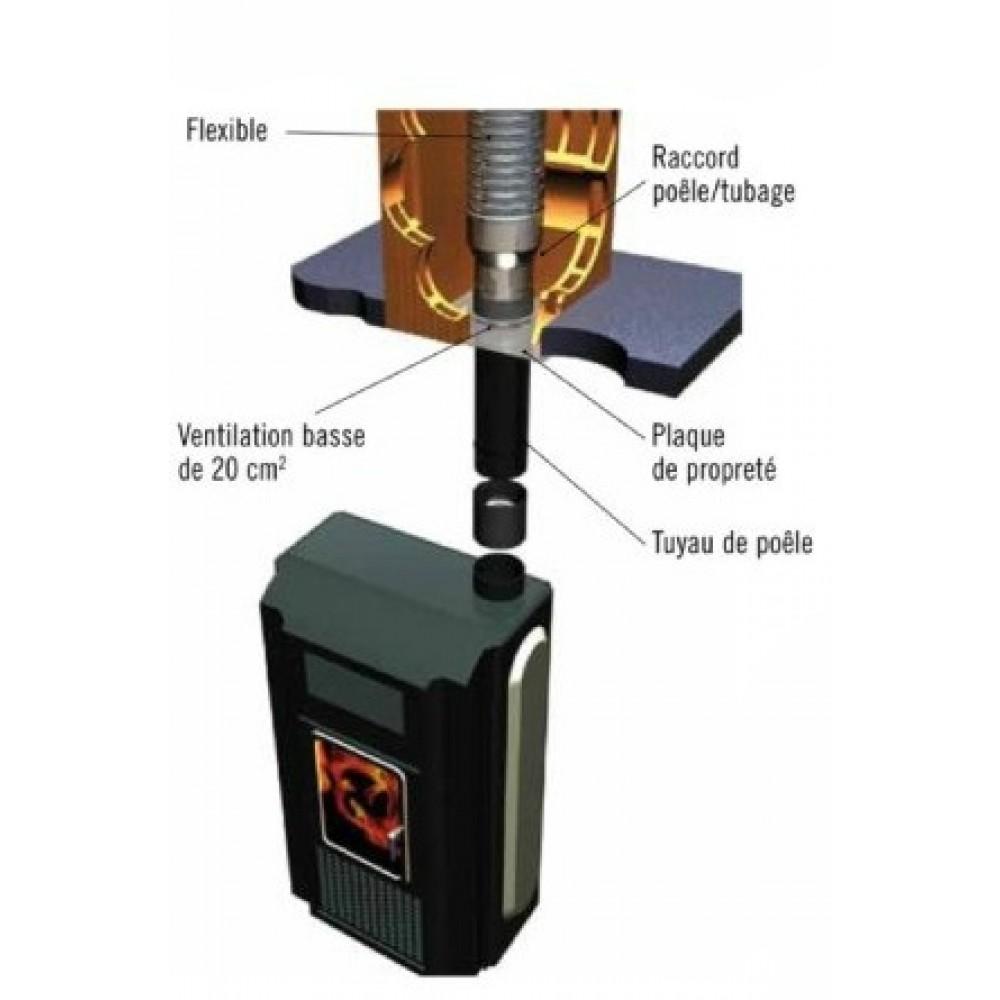 plaque de finition inox 30 a 45 diametre 200 mm ten
