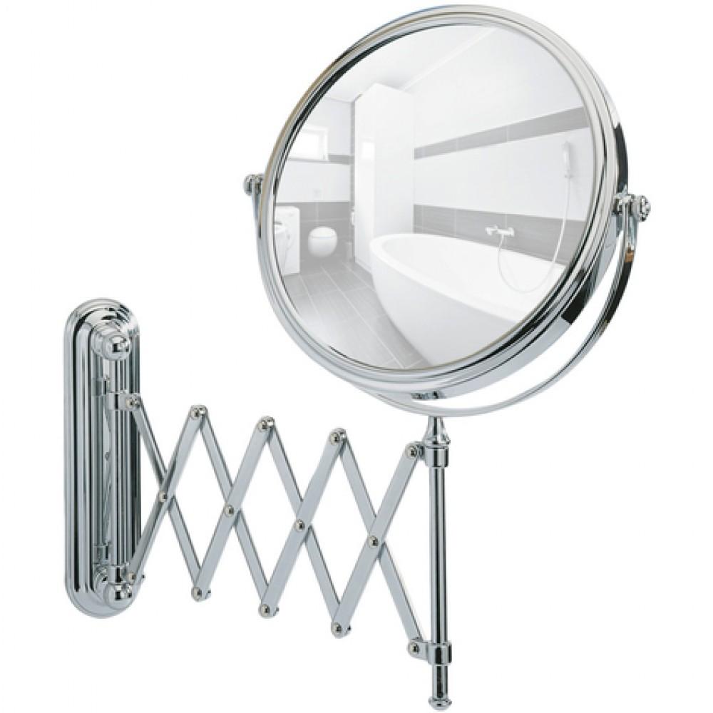 Miroir Grossissant X5 Deluxe Support Mural Telescopique Wenko Bricozor
