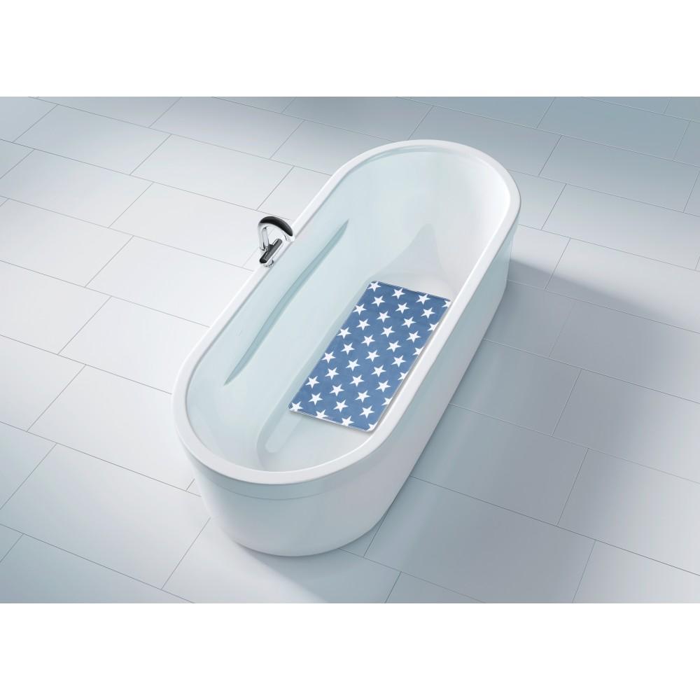 tapis antiderapant stella bleu fonce bain ou douche