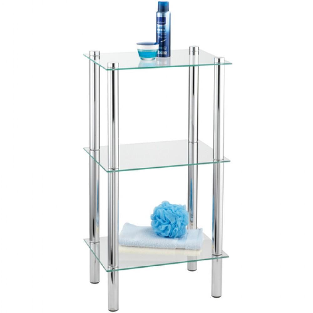 etagere de salle de bain carree yago 3 tablettes en verre
