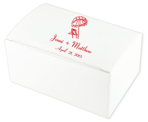 Beach Chair Wedding Cake Boxes