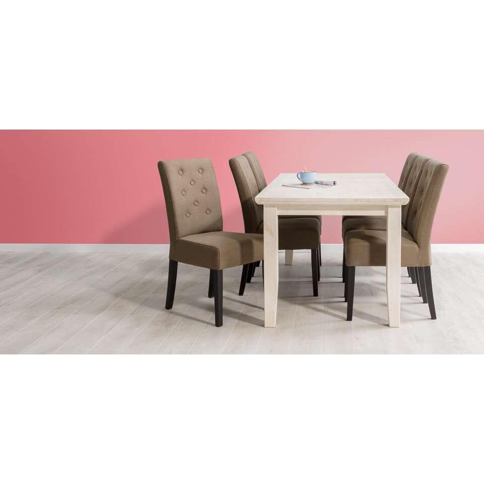 Eetkamertafel Lynn met 4 stoelen Sinatra  beige