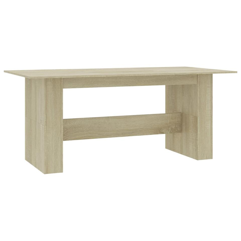 vidaxl table de salle a manger chene sonoma 180x90x76 cm agglomere