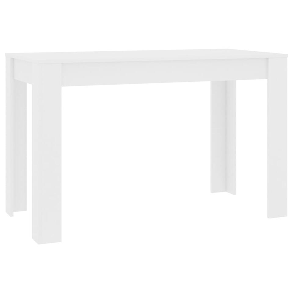 vidaxl table de salle a manger blanc 120 x 60 x 76 cm agglomere