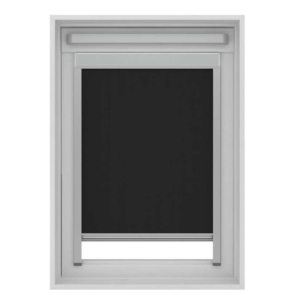store enrouleur occultant pour fenetre de toit noir mk04 78x98 cm