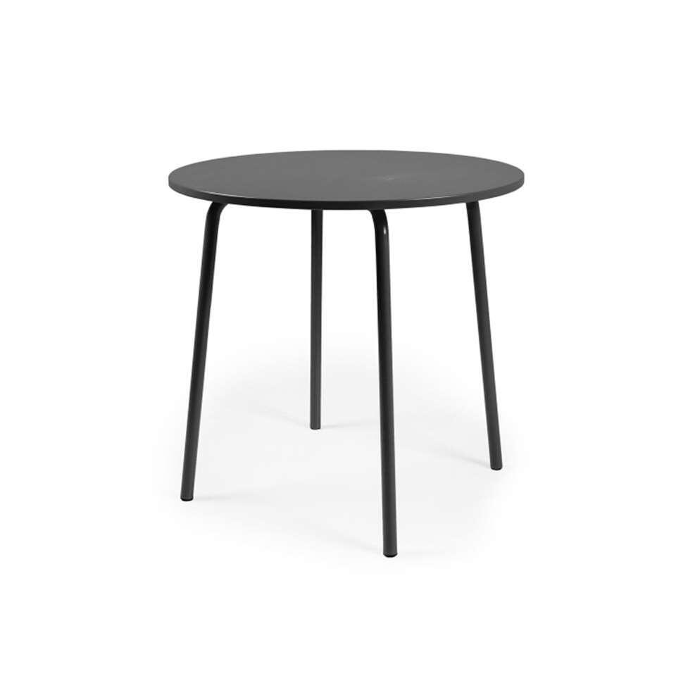 Eetkamertafel Lolly  zwart  76x90x90 cm