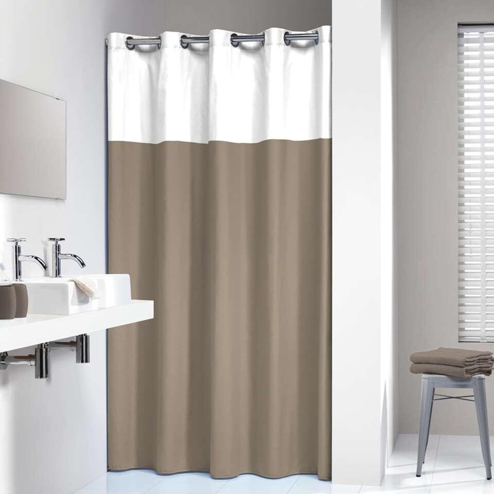 sealskin rideau de douche double polyester coton lin 180x200 cm