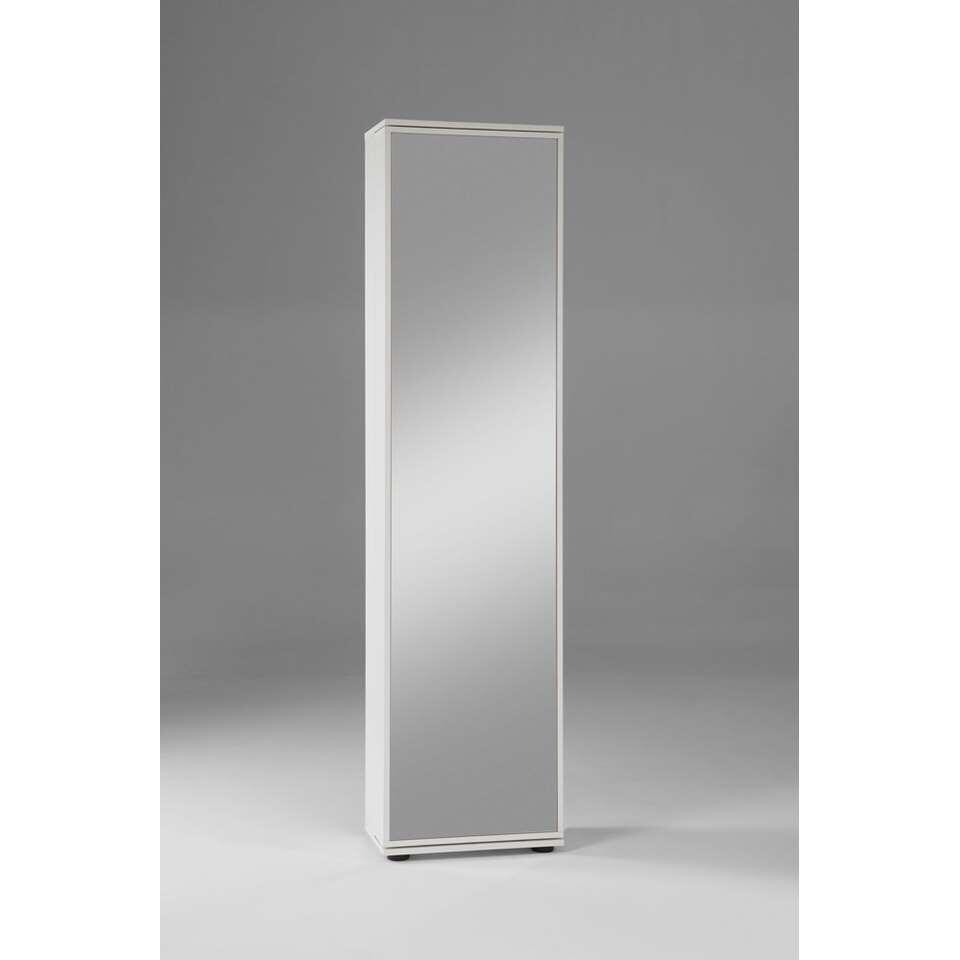 armoire a chaussures penny porte a miroir blanc