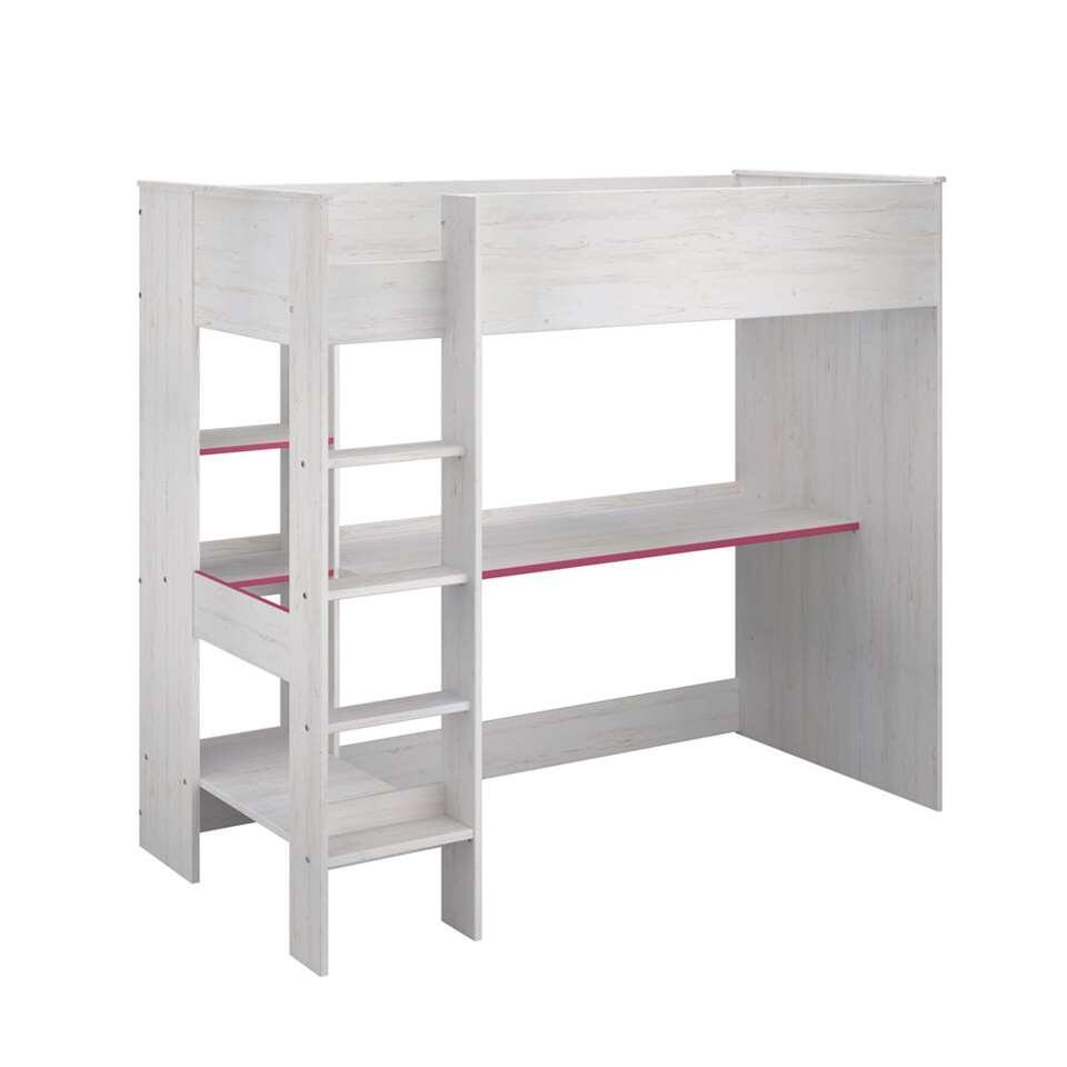 lit mezzanine smoozy pin blanc 179 8x118 5x205 6 cm