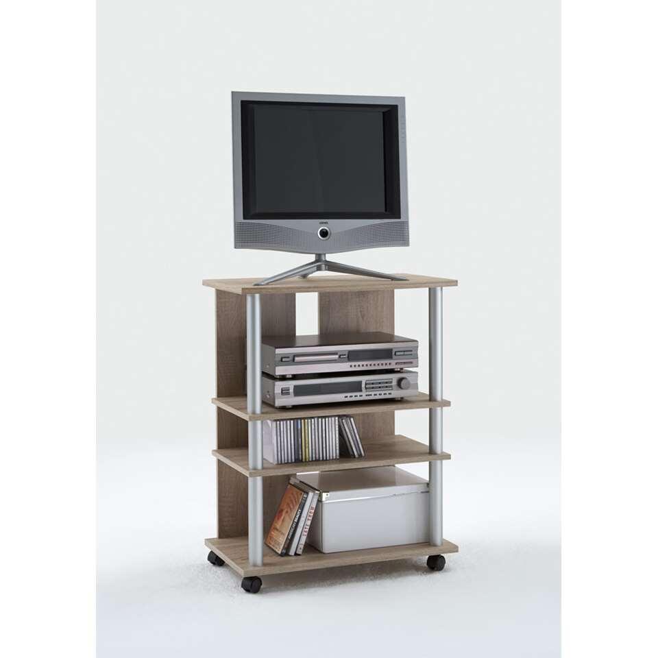 meuble tv tilton haut couleur chene 65x85x40 cm