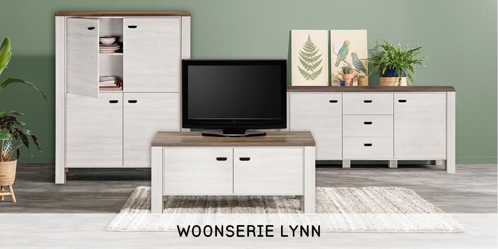 woonseries with landelijke meubel set