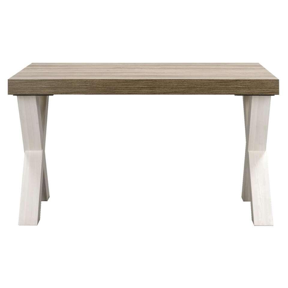 Eetkamertafel Lynn  wit eikenkleur  775x138x102 cm