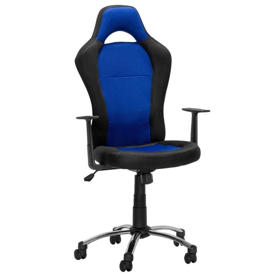Bureaustoel Toledo  zwartblauw