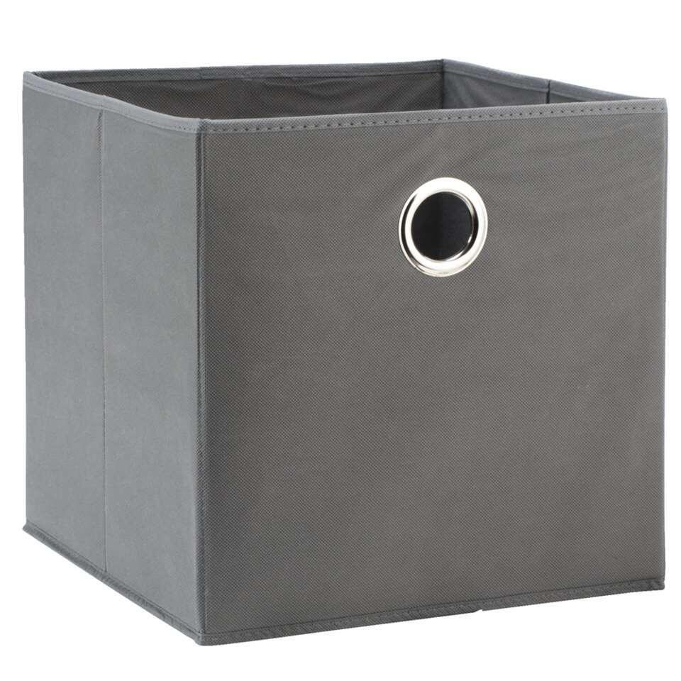 Opbergbox Parijs  grijs  31x31x31 cm