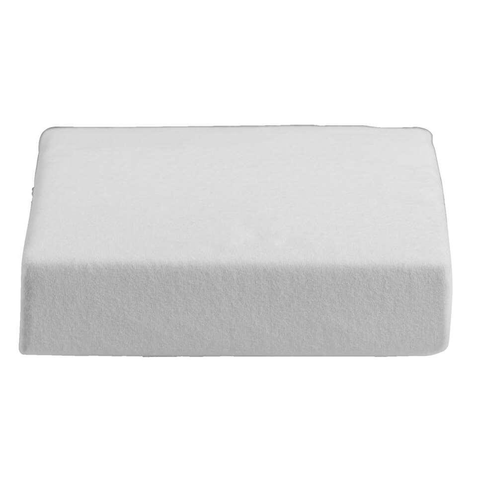 Waterdichte matrasbeschermer molton  wit  140x200 cm
