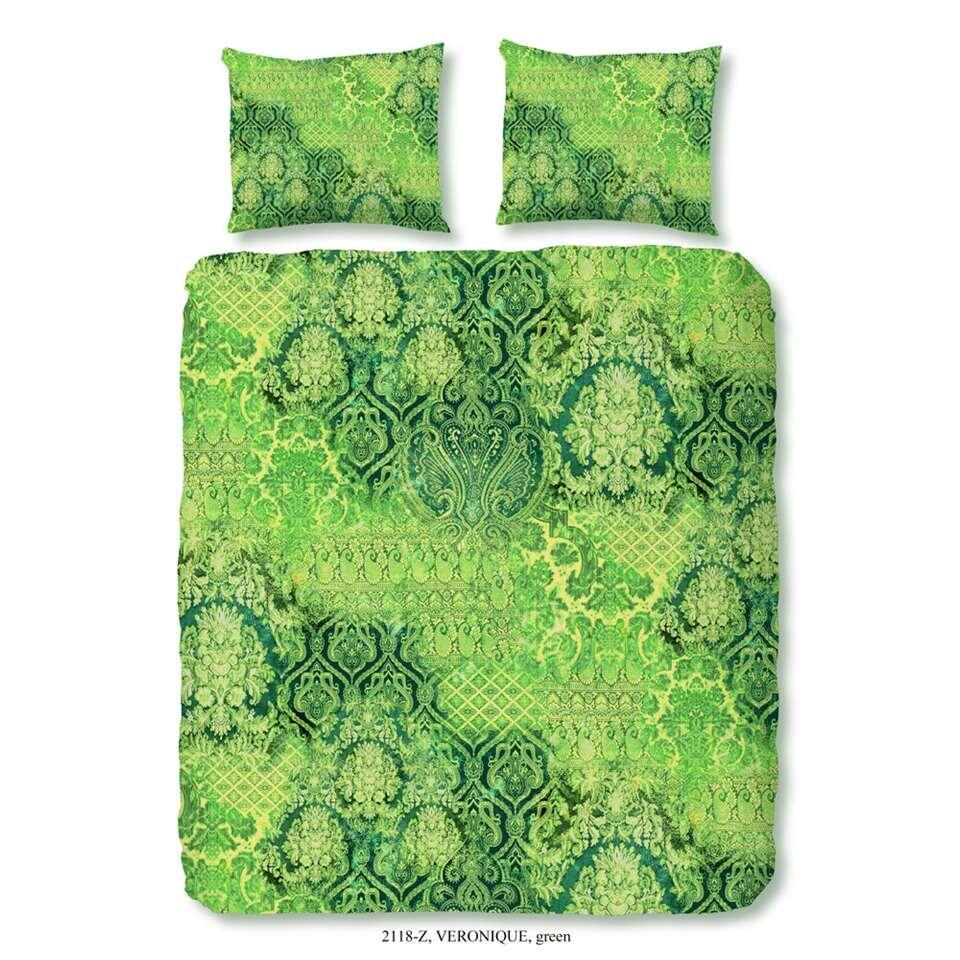ZouZou dekbedovertrek Veronique  groen  140x200220 cm