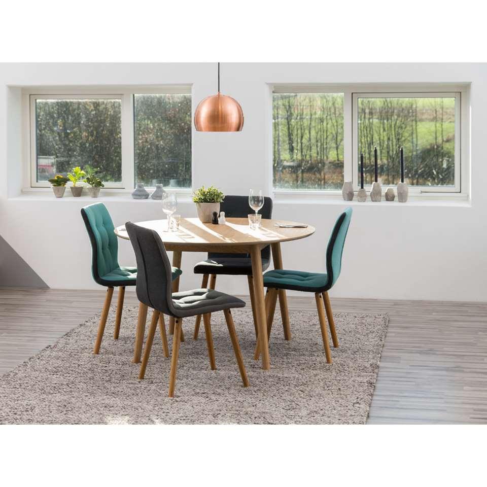Eethoek Ulfborg Skagen tafel met 4 stoelen  grijsblauw