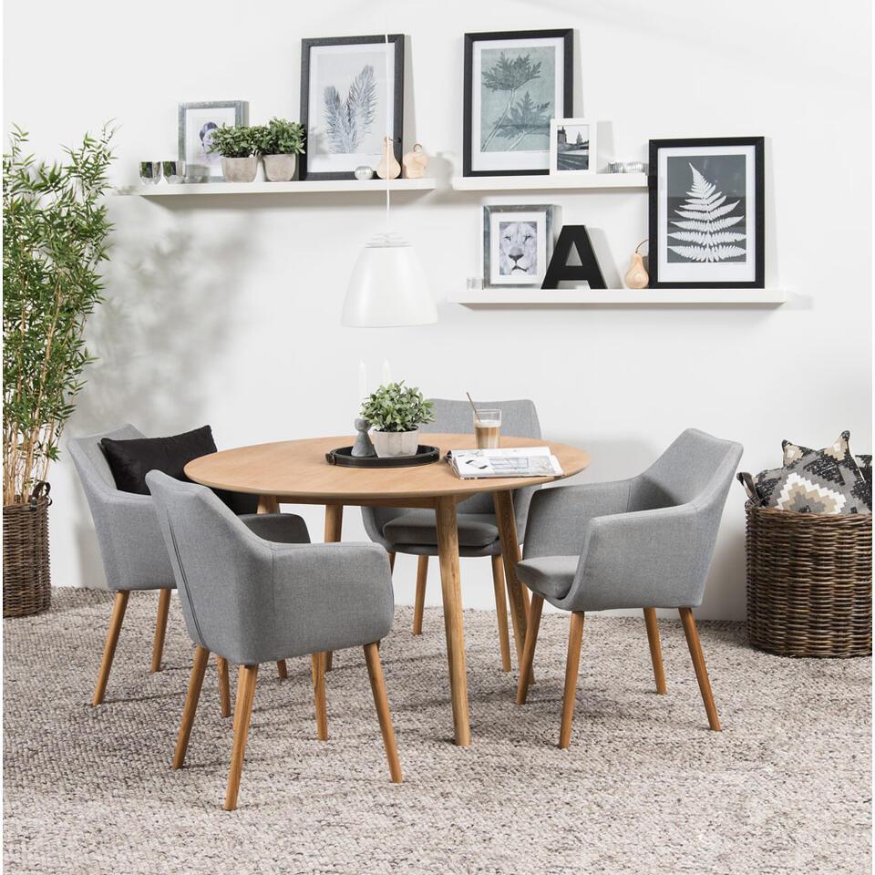 Eethoek Ulfborg Uppsala tafel met 4 stoelen  bruingrijs