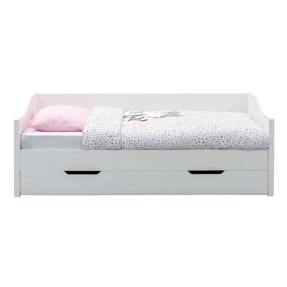 Bedbank Eliza incl bedlade  wit  90x200 cm