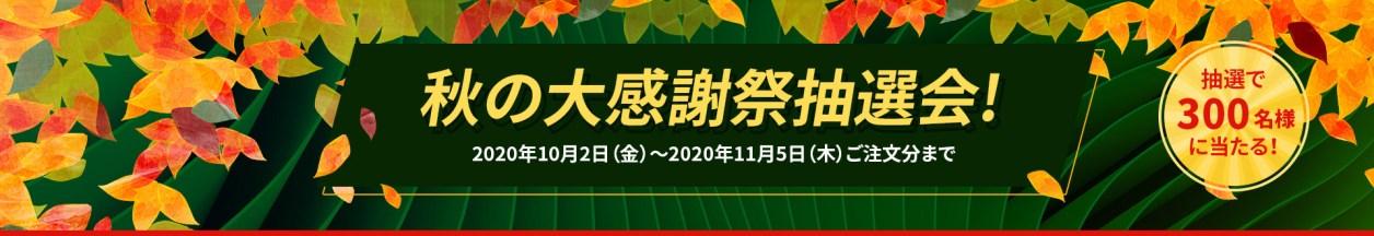 秋の大感謝祭抽選会!