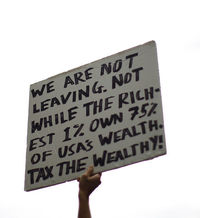 We are not leaving. Not while the richest 1 % own 75 % of USA's wealth. Tax the wealthy!