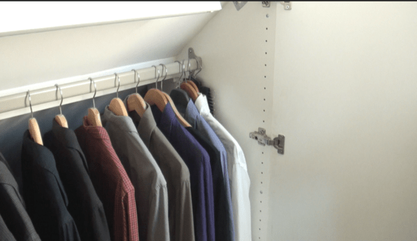 VIDEO Un vrai dressing sous les combles  LExpress Styles