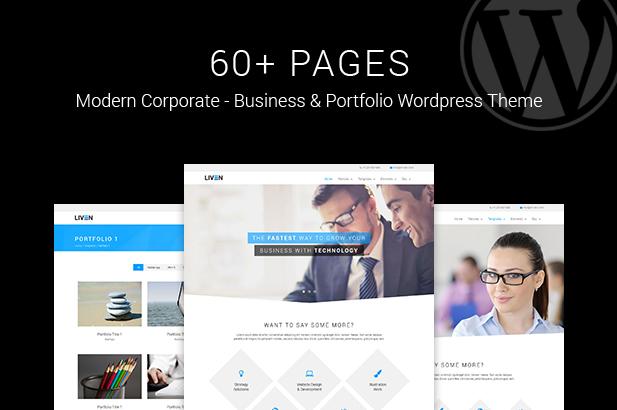 Liven - Modern Corporate - Business & Portfolio Theme for WordPress - 1