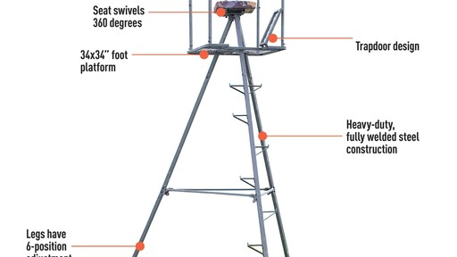 Guide Gear 13' Deluxe Tripod Deer Stand » Sportsman's