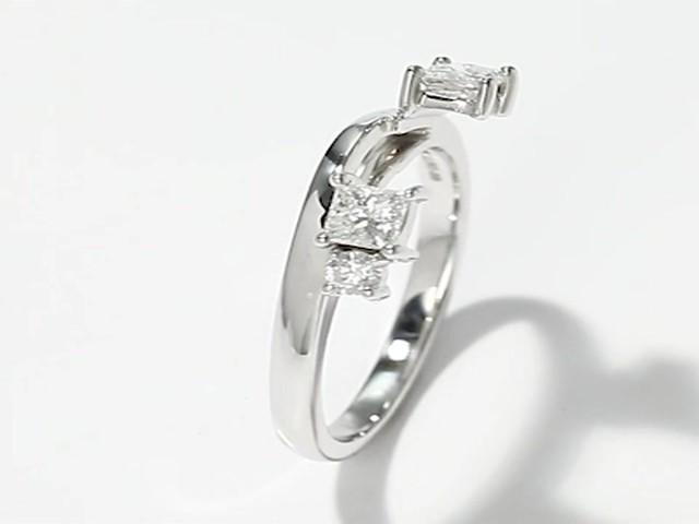 Leo Diamond Enhancer Ring 12 Carat Tw 14K White Gold