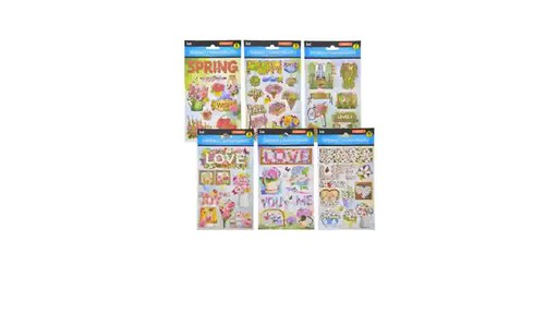 Case Of Jot Pop Up Floral Design Stickers 36 Units