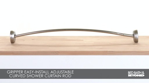 The Gripper Easy Install Adjule Curved Shower Rod Bed Bath