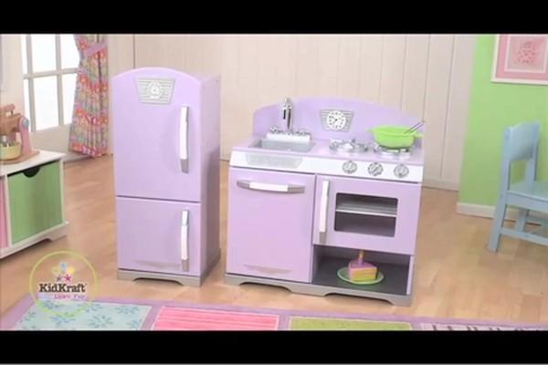 KidKraft 2pc Retro Kitchen  Lavender 6 Personalization