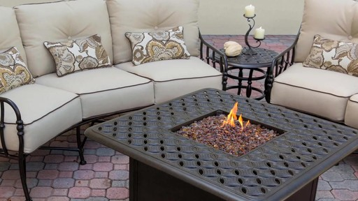 Cortez 6piece Crescent Deep Seating Set with Firepit Table  Welcome to Costco Wholesale