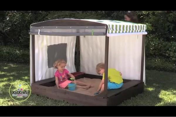 KidKraft Cabana Youth Sandbox  Outdoor Play  Baby  Kids
