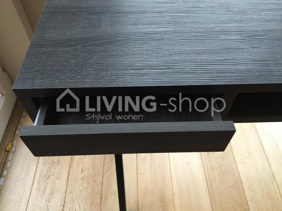 Klein bureau zwart of smalle zwarte console online kopen