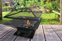 Square Fire Pit with BBQ Grill | Shopping | LivingSocial