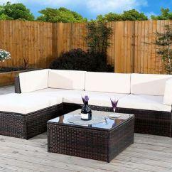 6pc Milan Modular Rattan Corner Sofa Set Seth Genuine Leather Power Reclining Shopping Livingsocial 3 Colours