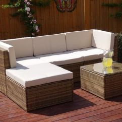 6pc Milan Modular Rattan Corner Sofa Set Luxury Modern Outdoor Barbados Shopping Livingsocial 279 Instead Of 870 From Abreo For A Five Piece Save 68