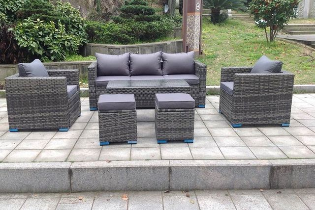 rattan sofa set uk leather recliner sofas sale 7 seater outdoor furniture 3 colours shopping livingsocial