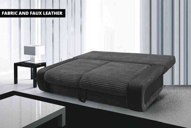 faux leather sofa bed uk club hong kong fabric shopping livingsocial sold out
