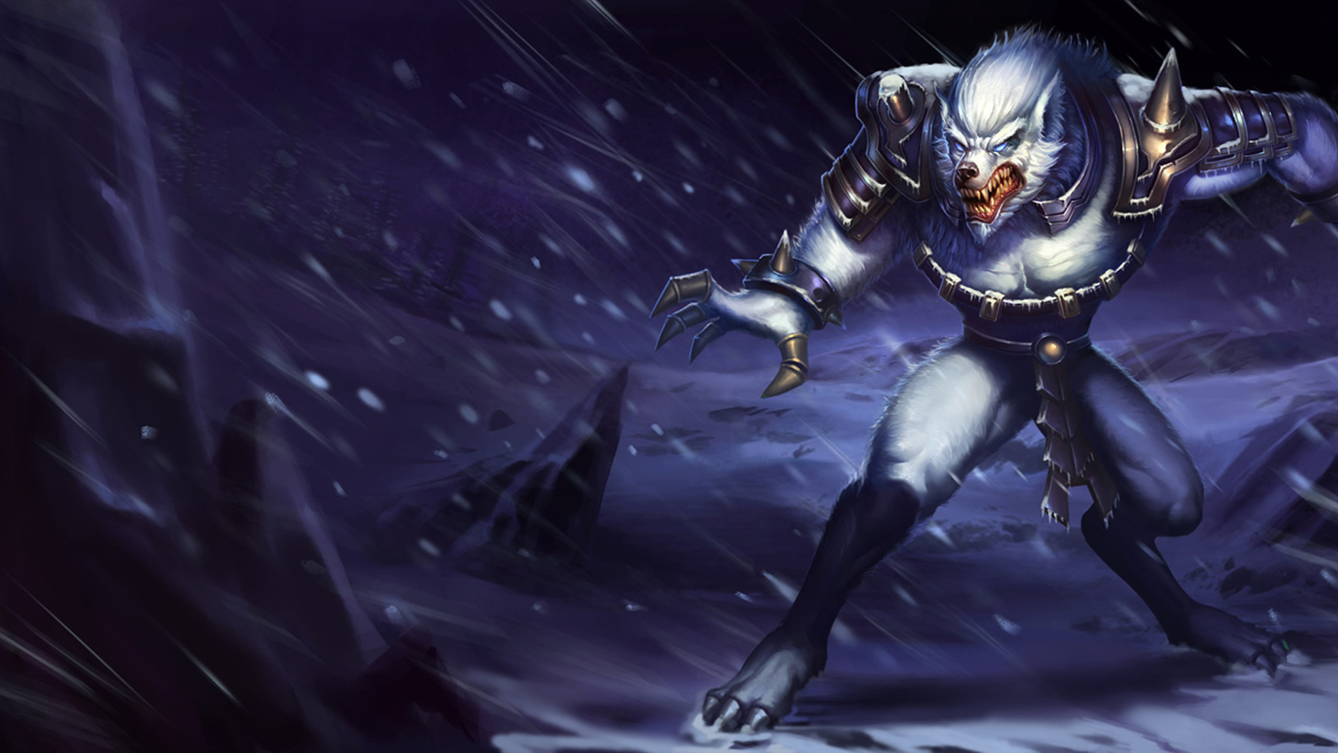 Nocturne Wallpaper Hd Tundra Hunter Warwick Chinese League Of Legends Wallpapers