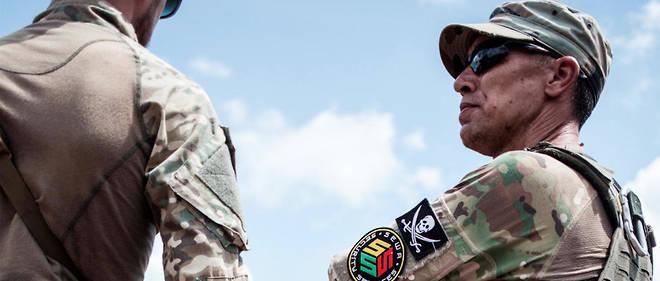 La presence militaire russe se fait de plus en plus insistante. Ici, un militaire russe, membre de la garde du president centrafricain Faustin-Archange Touadera.