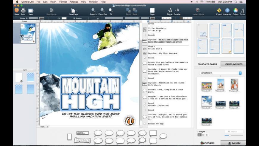 Comic Life 3.5.18 Mac 破解版 漫画创作软件