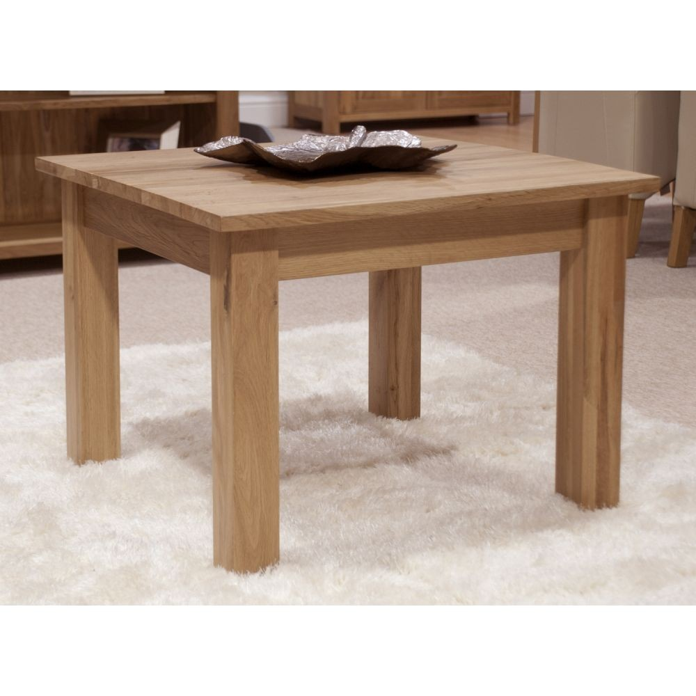 opus solid oak small coffee table